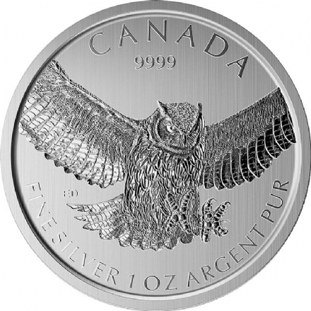 2015 1oz Silver Bullion Great Horned Owl